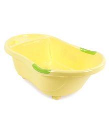 Baby Bath Tub Happy Fish Print - Yellow