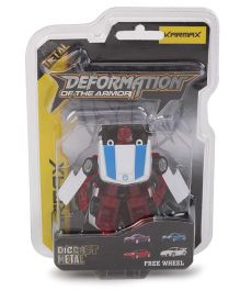 Karmax Deformation Diecast Car Cum Robot - Red
