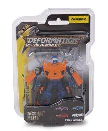 Karmax Deformation Diecast Car Cum Robot - Orange Blue