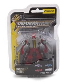 Karmax Deformation Diecast Car Cum Robot - Red Grey