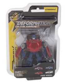 Karmax Deformation Diecast Car Cum Robot - Red Blue