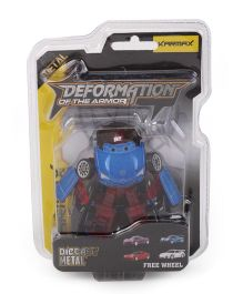 Karmax Deformation Diecast Car Cum Robot - Blue Red