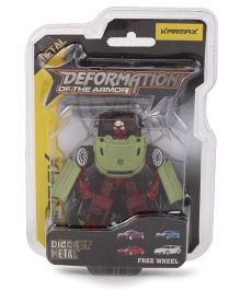 Karmax Deformation Diecast Car Cum Robot -Green Red
