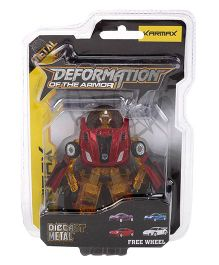 Karmax Deformation Diecast Car Cum Robot - Red Mustard Yellow