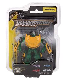 Karmax Deformation Diecast Car Cum Robot - Yellow Green
