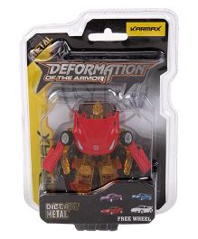 Karmax Deformation Diecast Car Cum Robot - Red Light Brown