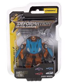 Karmax Deformation Diecast Car Cum Robot - Blue Brown