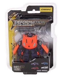 Karmax Deformation Diecast Car Cum Robot - Neon Orange Navy