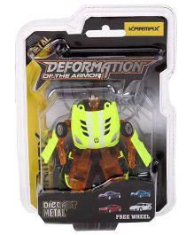 Karmax Deformation Diecast Car Cum Robot - Neon Green Navy