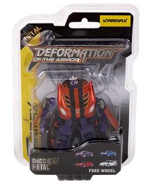 Karmax Deformation Diecast Car Cum Robot - Red Navy Blue