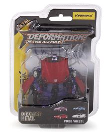 Karmax Deformation Diecast Car Cum Robot - Red Purple