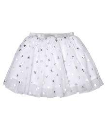 CrayonFlakes Star Print Skirt - White
