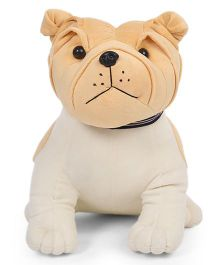 Liviya Sitting Bull Dog Soft Toy Cream - 41 cm