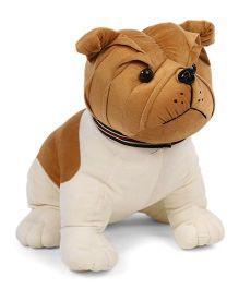 Liviya Sitting Bull Dog Soft Toy Brown - 41 cm