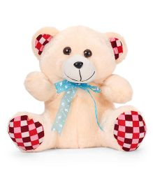 Liviya Teddy Bear With Lace Bow Cream - 28 cm