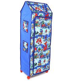 Kids Zone Big Jinny Folding Almirah Multi Print - Blue