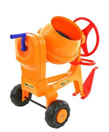 Kreative Box Cement Mixer With Hitch Bar - Orange