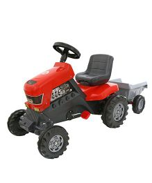 Kreative Box Turbo Tractor With Trailer Toy - Red