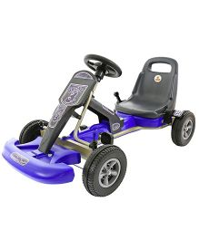 Kreative Box Sporty Go Kart Ride On - Blue Black
