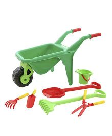 Kreative Box Wheel Barrow Gardening Set - Multi Color