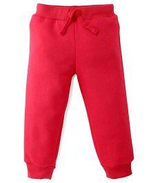 Fox Baby Full Length Track Pants - Cherry Red