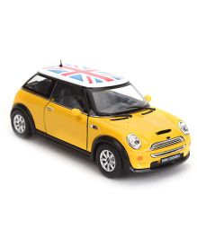 Kinsmart Mini Cooper S Convertible Model Car - Yellow