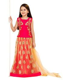 Betty By Tiny Kingdom Choli Lehenga & Dupatta Set - Tomato