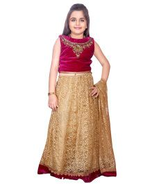 Betty By Tiny Kingdom Choli Lehenga & Dupatta Set - Magenta