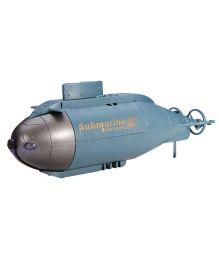 Adraxx 777 216 Simulation Series RC Boat Submarine Toy - Blue
