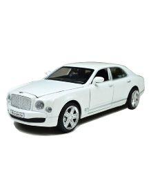 Adraxx Die Cast Model Car Bentley Mulsanne - White