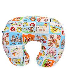 Mee Mee Neck Protector Pillow Multiprint - Blue