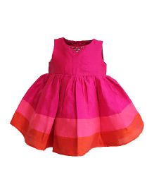 A Little Fable Sleeveless Party Wear Frock - Pink