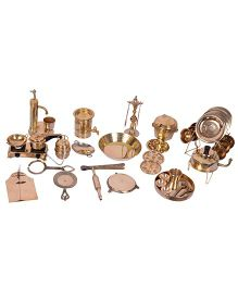 Desi Toys Brass Kitchen Playset - 42 pieces