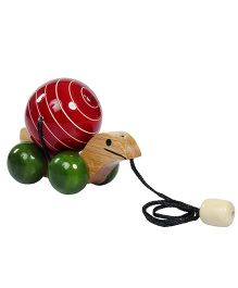 Desi Toys Pull Along Turtle Toy - Red