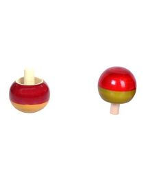 Desi Toys Spinning Tops Pack Of 2 - Red