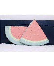 Kids Clan Watermelon Design Cushion Set - Green & Peach