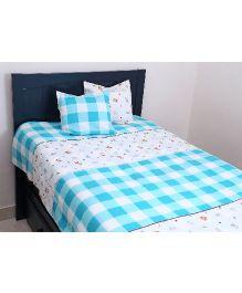 Kids Clan Kids Barn Bed Set - Blue & White