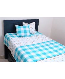 Kids Clan Kids Barn Cot Set - Blue & White