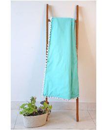 Kids Clan Emerald Love Quilt - Green & White