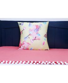 Kids Clan Peachy Day Quilt And Cushion Set - Peach