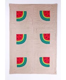 Kids Clan Winter Melon Design Quilt - Beige