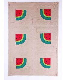 Kids Clan Winter Melon Design Quilt - Beige