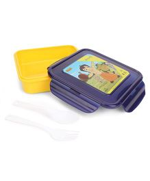 Chhota Bheem Lunch Box - Yellow And Dark Purple