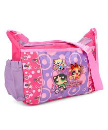 Power Puff Girls Messenger Bag Pink And Purple - 10 Inches
