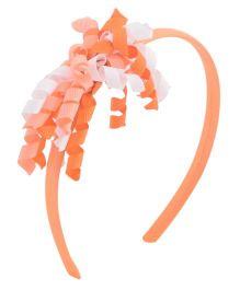 Miss Diva Curled Ribbon Hair Band - Orange
