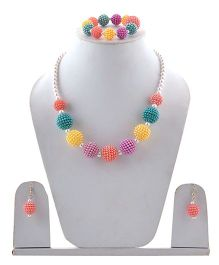 Miss Diva Beaded Necklace, Bracelet & Earrings Set - Multi Color