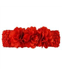 Miss Diva Flower Bunch Soft Headbands - Red
