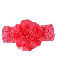 Miss Diva Elegant Flower Soft Headband - Pink