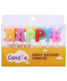 ShopAParty Happy Birthday Candle - Multicolor