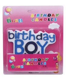 ShopAParty Birthday Boy Candle - Blue